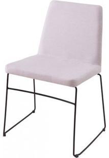 Cadeira Avec Linho Vinza Claro Base Preta - 61247 - Sun House