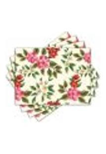 Jogo Americano - Flores Com 4 Peças - 588Jo