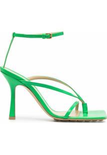 Bottega Veneta Sandália Com Salto 90Mm - Verde