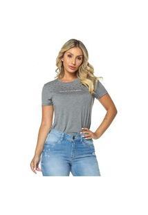 T-Shirt Daniela Cristina Gola U 03 602Dc10278 Cinza
