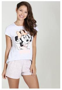 Pijama Short Doll Estampa Minnie Disney