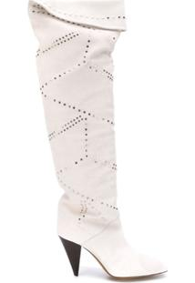 Isabel Marant Bota Over The Knee - Branco