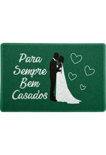 Capacho Para Sempre Bem Casados Verde 0,40X0,60M Beek