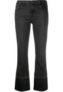 J Brand Calça Jeans Bootcut Selena Com Cintura Média - Preto