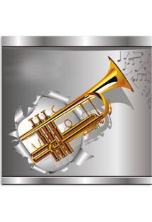 Quadro Trompete Uniart Dourado 30X30Cm
