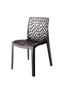 Cadeira Gruver Polipropileno Cor Dourada - 28429 Preto