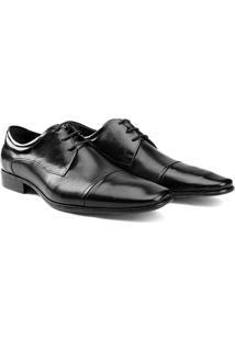 Sapato Social Couro Democrata Still - Masculino-Preto