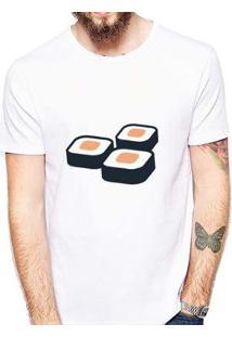 Camiseta Coolest Sushi Masculina - Masculino-Branco