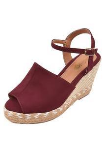 Sandália Uzze Sapatos Anabela Confort Fechada Bordo