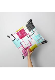 Capa De Almofada Avulsa Decorativa Arabescos Coloridos 35X35Cm - Multicolorido - Dafiti