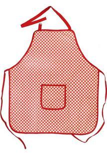 Avental De Cozinha Le Vermelho E Branco 66X76Cm