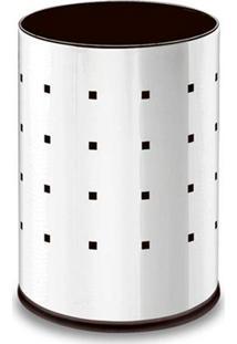 Lixeira Em Aço Inox 9,4 Litros Cromada