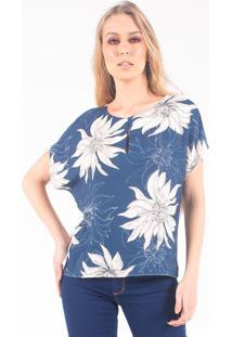 Tshirt Estampada Bana Bana - Azul/Multicolorido - Feminino - Dafiti