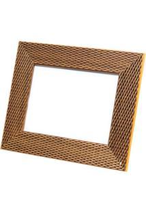 Porta Retrato Em Madeira Lux 18X13Cm Dourado