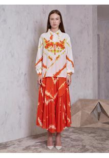 Camisa Atelier Le Lis Cho Seda Estampado Feminina (Estampado, 36)