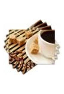 Jogo Americano - Café Com 4 Peças - 412Jo