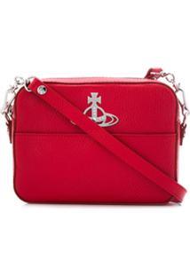 Vivienne Westwood Bolsa Transversal Com Placa De Logo - Vermelho
