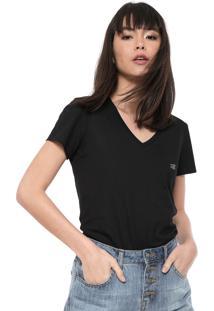 Camiseta Ellus 2Nd Floor Basic Esf Dec Preta