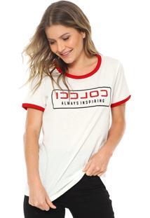 1814dcdec R$ 89,99. Dafiti Camiseta Colcci Lettering Branca