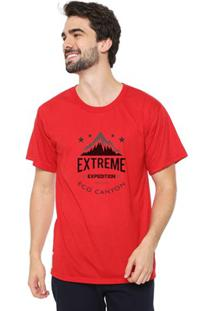 Camiseta Masculina Eco Canyon Extreme Expedition Vermelho