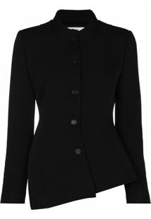 Coperni Asymmetric Button-Up Jacket - Preto