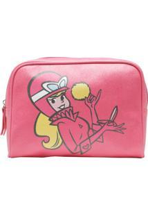 Necessaire Penelope Charmosa Pink Glitter 23,5 X 6,5 X 17 Cm