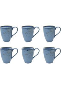 Conjunto De Canecas Com 6 Unidades L Hermitage Azul