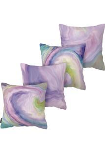 Kit Com 4 Capas Para Almofadas Premium Tie Dye Armonizzi - Multicolorido - Dafiti