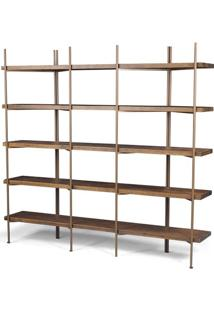 Estante Partition Driftwood Aco Cobre 1,87 Mt (Larg) - 41898 Sun House