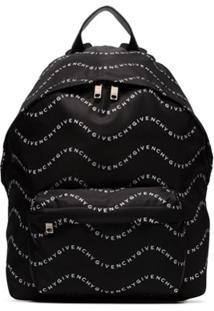 Givenchy Wave Logo-Printed Backpack - Preto