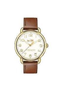 Relógio Coach Feminino Couro Marrom - 14502715