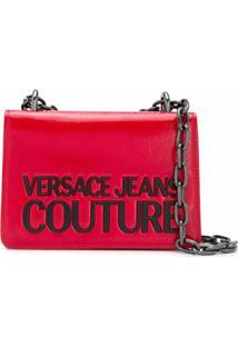 Versace Jeans Couture Bolsa Tiracolo Com Logo Gravado - Vermelho