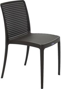 Cadeira Isabelle Pp E Fibra De Vidro Marrom Tramontina