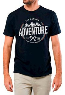 Camiseta Masculina Eco Canyon Enjoy Every Moment Preto