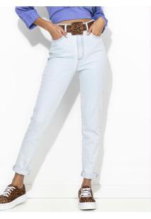 Calça Mom Jeans Azul