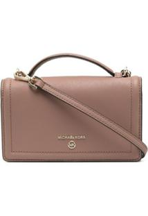 Michael Kors Collection Bolsa Carteira Mini De Couro - Neutro