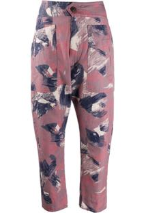 Isabel Marant Étoile Raluni Abstract Print Trousers - Rosa