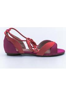 Sandália Pink E Coral Bendito Sapato - Feminino