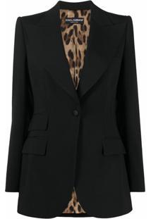 Dolce & Gabbana Blazer De Alfaiataria Com Abotoamento Simples - Preto