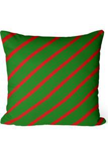Capa De Almofada Love Decor Avulsa Decorativa Listras Vermelhas