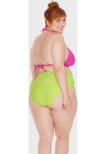 Top Sem Bojo Plus Size Rosa Neon