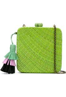 Serpui Clutch De Palha - Green