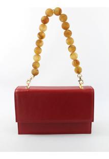 Bolsa Crifael Couro 40 Vermelho - Vermelho - Feminino - Dafiti