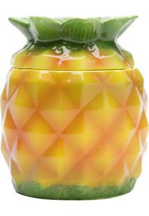 Açucareiro Com Colher Pineapple- Amarelo & Verde- 14Lyor