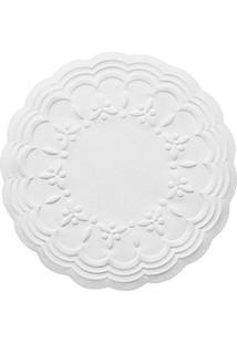 Porta Xícara De Papel Trevo Relevo Branco 50 Peças 8Cm - 27696
