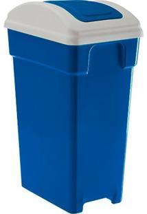 Lixeira Plastica Retangular Selecta Vai E Vem 20 Litros Azul Paramount