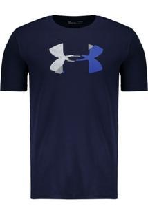 Camiseta Under Armour Glitch Logo Marinho - Masculino
