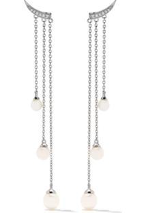 Yoko London Par De Brincos Trend De Ouro 18K Com Diamante - 7