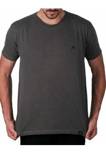 Camiseta Artseries Assinatura Logo Masculina - Masculino-Grafite