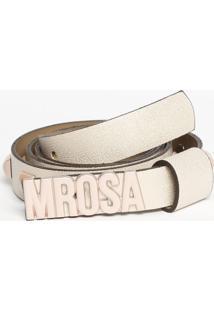 Cinto Com Rebites- Rosa Claro- 2X102Cm- Morena Rmorena Rosa